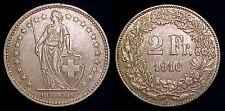 SWITZERLAND 1916 B Silver 2 Francs XF/AU ***