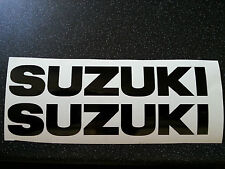 SUZUKI TANK BIKE 100MM X 16MM DECAL STICKERS WITHOUT  LOGO FREE MANY COLOURS