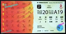 USIAN BOLT - Olympia 2008 BEIJING Ticket Weltrekord - Hologramm - Leichtathletik