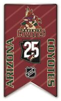 2020-2021 NHL ARIZONA COYOTES 25TH ANNIVERSARY PIN BANNER STYLE STANLEY CUP ?