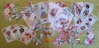 Vintage Floral Card Toppers, Cardmaking Cards, Scrapbooking, Tags, Craft, Rose 3