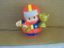 Fisher Price Little People Eddie Racing Driver Red Helmet Gold Trophy 2004