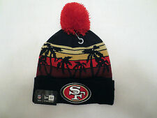 NEW ERA NFL WINTER TIDE KNIT POM BEANIE CAP HAT SAN FRANSISCO 49ERS BLACK
