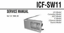 SONY ICF-SW11 SERVICE MANUAL BOOK INC SCHEMATIC ENGLISH STEREO 12 BAND RECEIVER