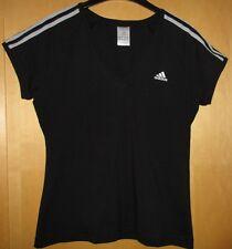 Adidas T-Shirt Stretch Shirt Sport Freizeit schwarz, silber grau, Gr. 42