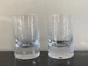 Moser Crystal Birds of the Wild Engraved Large Whiskey Glasses