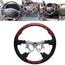 Leather Wood SPORTS Steering Wheel for Toyota Land Cruiser 100 4700  Prado FJ120