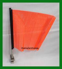 ORANGE Quick Mount Flag 18X18 Jersey Oversize Load Wideload