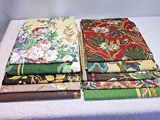 Vintage Retro Asst. Lot Home Decor Decorator Fabric Sample Pieces 3 + Pounds