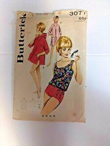 Vintage BUTTERICK 3077 Misses' Sportwear 8 pieces  Sz 12 Bust 32