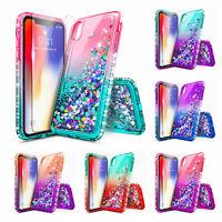 For iPhone Xs XR Xs Max 7 8 Plus 6 6S | Liquid Glitter Bling Soft TPU Cover Case