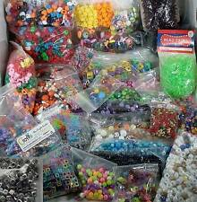 Huge Lot of 7 pounds Craft Beads Stars Hearts Skulls Alphabet Tri-bead Snowflake