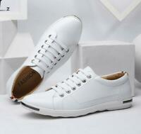 New 2020 Men's large size casual shoes fashionable breathable leather shoes lot