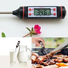 Digital Lange Küche Sonde Thermometer Essen Kochen Fleisch Steak Türkei Wein
