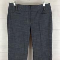 Apt.9 Maxwell womens size 9/10 stretch grayish blue flat front dress career pant