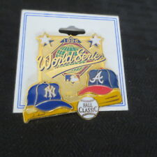 1996 World Series New York Yankees Atlanta Braves Pin