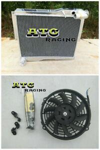 56mm Aluminum Radiator +Fan for MG MGB GT/Roadster 1977-1980 1978 1979