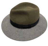 LANVIN RABBIT FELT OLIVE/GRAY HAT, M, $1050
