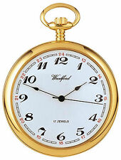 Woodford Gold Plated Mechanical Open Face Pocket Watch. ref 1031