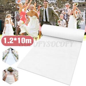 32X3.9 ft Wedding Aisle Runner Plain White Carpet Event Party Ceremony