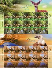 Israel 2015 MNH Rivers in Israel 3 x 10v M/S Taninim Kziv Zin River Stamps