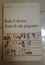 SOTTO IL SOLE GIAGUARO ITALO CALVINO PRIMA EDIZIONE 1986
