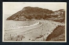 c1930s View: People on the Beach at Casewell Bay