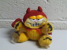 Vintage Garfield Devil with Horns and Cape Window Cling Suction Cup Plush Dakin
