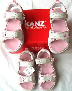 KANZ Girl Kindersandalen weiss/rosa Gr. 25  UVP 34,95 € Knallerpreis