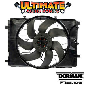 Radiator Cooling Fan (1.8L Turbo) w/Controller for 12-15 Mercedes Benz SLK250