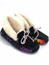 UGG Australia Women's Alena Pendleton Collab Slippers Shoes Black 1007504