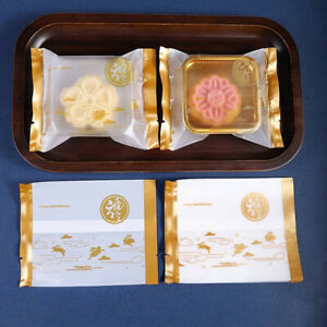 100 pcs Gold Rabbit Pattern Mid-Autumn Festival Moon Cake Packaging Bags UK F