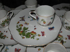 16 Pc Ardalt Lenwile SNACK SET Fine Porcelain China Strawberries & Butterflies