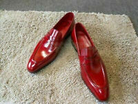 Handmade Men's Leather Fringes Casual Dress Loafers and Slip Ons Shoes