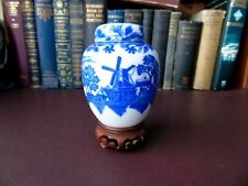 VINTAGE Blue & White ginger jar Norfolk Pattern