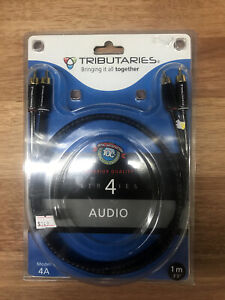 Tributaries Series 4 Cable RCA Pair 1M Model 4A New