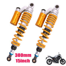 "380mm 15"" Motorcycle Off-road Scooter Rear Air Shock Absorbers For Honda Suzuki"