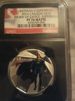 2016 Canada 1/2 OZ Batman V Superman PF 70 Early Releases Matte Retro black lab.