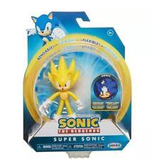 New Sonic Hedgehog ~ Super Sonic ACTION FIGURE BENDABLE ARMS LEGS Jakks Pacific