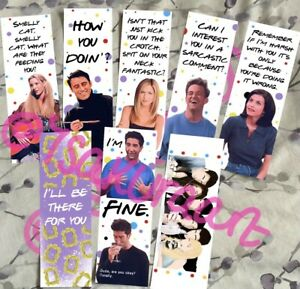 Friends Tv Show Complete Bookmark Collection, Friends Tv Show Iconic Quotes Art