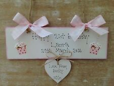 Personalised Birthday Plaque Wooden Cupcake Sign Keepsake Gift 1st 16th 18th 21s