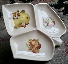 Rare Vintage 1950s Sandygate Pottery Segmented Serving Dish In Lovely Condition