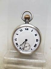Antique solid silver gents pocket watch 1923 working ref1134