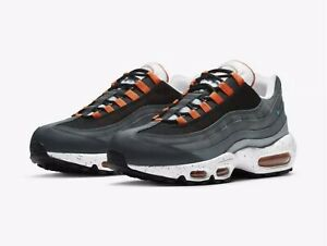 Nike Air Max 95 Black Speckled Men's Size 10.5 White/Orange/Gray (CZ0191-001)