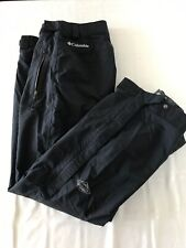 Columbia Omni-Tech Mens Small Black Nylon Ski Snow Board Snow Pants TS0