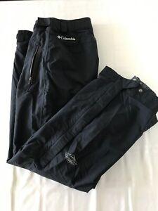 Columbia Omni-Tech Mens Small Black Nylon Ski Snow Board Snow Pants TS0