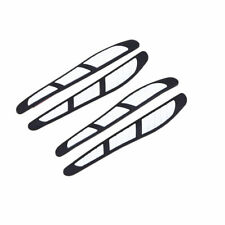 4x White Car Door Edge Guards Trim Molding Protection Strip Scratch Protector