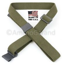 M1 Garand Sling OD Green Cotton Web for USGI 1903 Mil Civ WWII Korea *US Made*