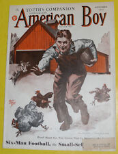 American Boy – Edgar Whitmack Barnyard Football Cover September 1937 Mag Pics!