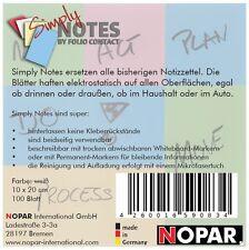 NOTES by Folio Contact, Haftnotizen, 10 x  20 cm weiß, 100 Blatt elektrostatisch